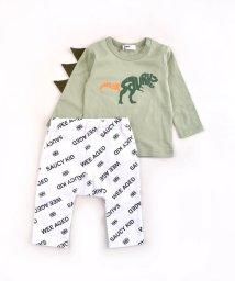 WASK/【ギフトBOX付き】BABY 恐竜 T + ロゴ パンツ ギフトセット (80c/503300965