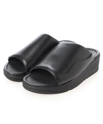 FITFLOP/フィットフロップ fitflop MYLA LEATHER SLIDES (All Black)/503303169
