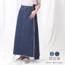 Bleu Melange/手作りリメイク風ロングスカート/503304125
