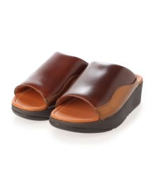 FITFLOP/フィットフロップ fitflop MYLA LEATHER SLIDES (Chocolate Brown mix)/503308480