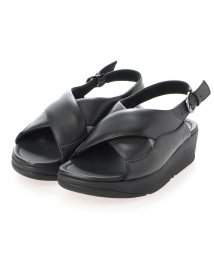 FITFLOP/フィットフロップ fitflop MYLA LEATHER BACK-STRAP SANDALS (All Black)/503308484