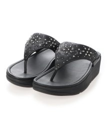 FITFLOP/フィットフロップ fitflop MYLA FLORAL STUD TOE-THONGS (All Black)/503308492