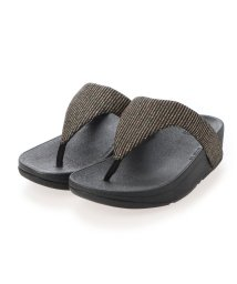 FITFLOP/フィットフロップ fitflop LOTTIE GLITTER STRIPE TOE-THONGS (All Black)/503308494