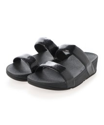 FITFLOP/フィットフロップ fitflop LOTTIE IRIDESCENT SCALE SLIDES (All Black)/503308501