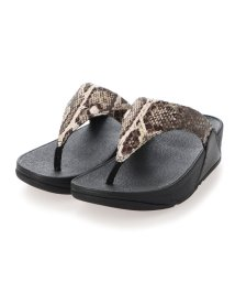 FITFLOP/フィットフロップ fitflop LULU SNAKE-PRINT TOE-THONGS (Black Snake)/503308504