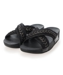 FITFLOP/フィットフロップ fitflop LULU METALLIC WEAVE SLIDES (All Black)/503308507