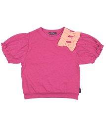 moujonjon/【子供服】 MoujoNjoN (ムージョンジョン) リボン付きパフスリーブTシャツ 80cM~140cM M32831/503310079