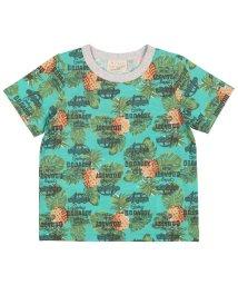 DaddyOhDaddy/【子供服】 Daddy Oh Daddy (ダディオダディ) 日本製ヤシの木・パイナップル柄Tシャツ 80cM~150cM V32823/503310150