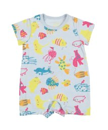 Kids Zoo/【子供服】 kidS zoo (キッズズー) 海の生き物総柄Tオール・ロンパース 70cM,80cM W32702/503310160