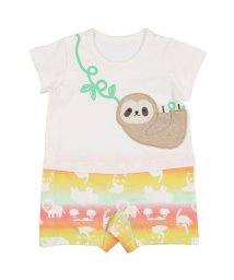 Kids Zoo/【子供服】 kidS zoo (キッズズー) ナマケモノ・パンダロンパース・Tオール 70cM,80cM W32721/503310164
