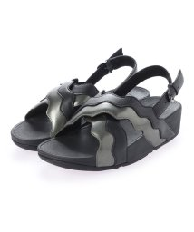 FITFLOP/フィットフロップ fitflop RHYLEE WAVE STRAP BACK-STRAP SANDALS (Black Mix)/503310312