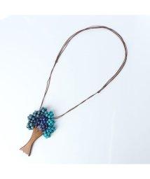 KANKAN/カンカン KANKAN ウッドツブツリーネックレス (ブルー)/503310411