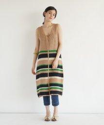 FIKA./FIKA. Multi border knit Onepiece/503314754