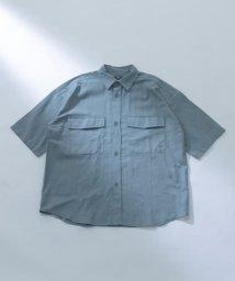 ITEMS URBANRESEARCH/綿麻ビックワーク半袖シャツ/503315714
