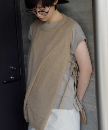 ARGO TOKYO/TT-yarn plain stitches knit vest 25070/503315887