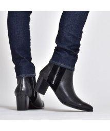 SVEC/ショートブーツ メンズ ブーツ ハイヒール ドレスブーツ 本革 スエード レザー コンビ シューズ サイドジップ 男性 紳士靴 靴くつ ベージュ ブラック 黒 /503300261