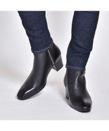SVEC/ブーツ メンズ ショートブーツ ヒールブーツ サイドジップ 革靴 サイドファスナー ドレスブーツ 人気 ブランド エンデバイス endevice ブラック ベー/503300264