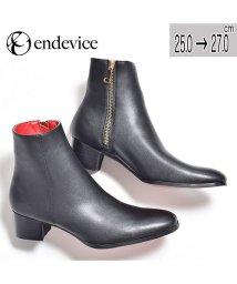 SVEC/ブーツ メンズ ヒールブーツ サイドジップ お洒落 人気 ブランド カッコいい endevice エンデヴァイス ブラック 黒 くつ 靴 舞台 衣装 ホスト メ/503300270
