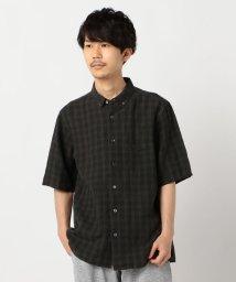 GLOSTER/リネンチェック ビッグシルエット ボタンダウンシャツ/503300868