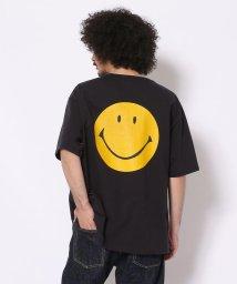 BEAVER/CAL O LINE - INNOVATIVE/キャルオーライン - イノヴェイティブ INV SS TEE SMILE back LACA Tシャツ/503316360