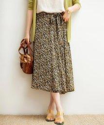 SAISON DE PAPILLON/サイドリボン付き花柄スカート/503317005