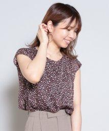 Cheek/ぼかし小花プリントブラウス/503046451