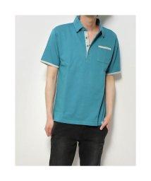STYLEBLOCK/スタイルブロック STYLEBLOCK ポンチ裏ストライプ配色ポロシャツ (ターコイズ)/503310213