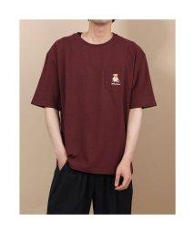 STYLEBLOCK/スタイルブロック STYLEBLOCK テディベア刺繍ポケット付きTシャツ (ブラウン)/503315011
