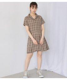 Avan Lily/チェックミニワンピース/503319593