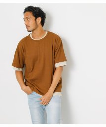 AZUL by moussy/SURFACE CHANGE LAYERED TEE/503319606