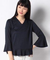 LAPINE BLANCHE/シルキースムース裾フレアデザインカットソー/501615646