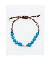 CAYHANE/【チャイハネ】数珠ストリングブレスレット 8mm玉天然石 ターコイズブルー/503315470