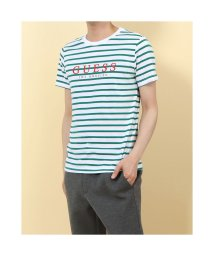 GUESS/ゲス GUESS MEN'S S/SLV TEE SHIRT (GREEN)/503319105