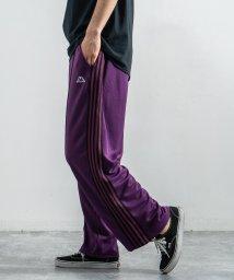 Rocky Monroe/Kappa カッパ トラックパンツ メンズ レディース イージーウエスト ワイド テーパード サイドライン ジョガー ジャージ ストリート カジュアル スポーテ/503094377