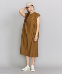 BEAUTY&YOUTH UNITED ARROWS/BY スタンドカラーギャザーフレンチスリーブワンピース/503301731