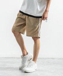 Rocky Monroe/ショートパンツ メンズ 膝上 短め 短パン ハーフパンツ イージパンツ サイドライン 無地 カジュアル 黒 紺 9556/503319203
