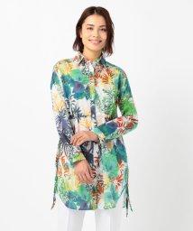 NARA CAMICIE/トロピカル綿ボイルプリントロングシャツ/503320332