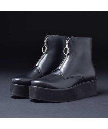 SVEC/厚底ブーツ ショートブーツ メンズ おしゃれ ジョッパーブーツ フロントジップ 人気 ブランド endevice エンデヴァイス ブラック 黒 男性の コスプレ/503320364