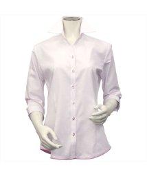 BRICKHOUSE/シャツ 七分袖 形態安定 裾デザイン スキッパー衿 レディース ウィメンズ/503321253