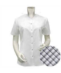 BRICKHOUSE/シャツ 半袖 形態安定 スキッパー衿  透け防止 レディース ウィメンズ/503321257