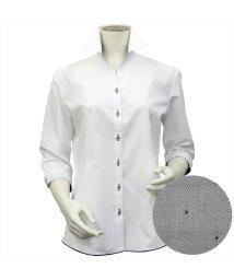 BRICKHOUSE/シャツ 七分袖 形態安定 裾デザイン スキッパー衿  透け防止 レディース/503321259