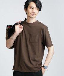 nano・universe/西川コットン プリントロゴTシャツ/503205431