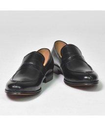 SVEC/本革 革靴 レザー コインローファー スリッポン ビジネスシューズ メンズ ラウンドトゥ Uチップ 焦がし加工 フォーマル 結婚式スーツ 紳士靴 靴 くつ ブラ/503300245