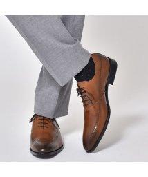 SVEC/本革 革靴 レザー ビジネスシューズ レースアップシューズ 紐 Uチップ 内羽根 ロングノーズ パンチング メダリオン 焦がし加工 メンズ フォーマル 結婚式 /503300248