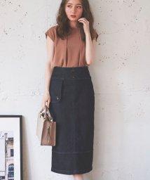 Noela/【美人百花・Ray10月号/andGIRL9月号掲載】キルティングタイトスカート /503320103