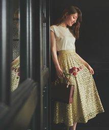 Noela/【美人百花8月号掲載】パンチングレザースカート /503320104