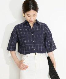 VERMEIL par iena/リネンチェックハーフスリーブシャツ◆/503322548