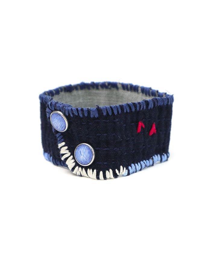 ギャレリア ポータークラシック ブレスレット Porter Classic PC SASHIKO BRACELET M 刺し子 KENDO 日本製 PC−011−1253 ユニセックス ブルー F 【GALLERIA】