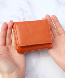 ninon/【本革】シボ加工のちいさい折りたたみ財布/503322995