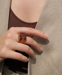 marjour/SQUARE MARBLE RING/503324190